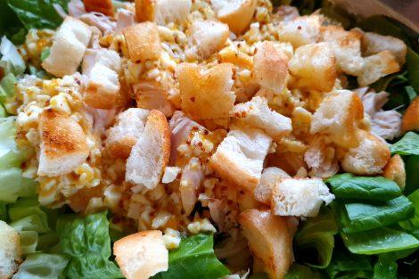 cesar salad eggs chicken croutons recipe