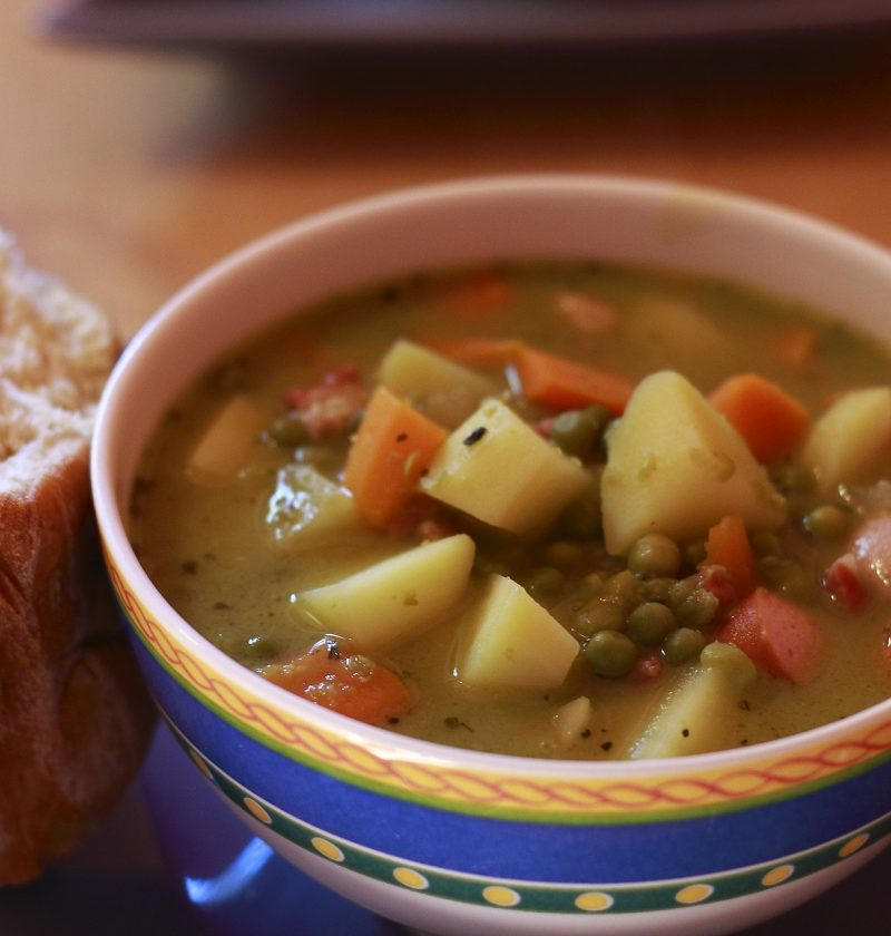 italian vegetables soup plate recipe