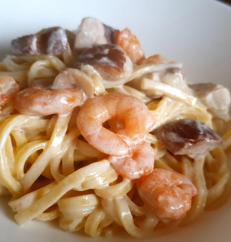 porcini mushrooms shrimps pasta recipe